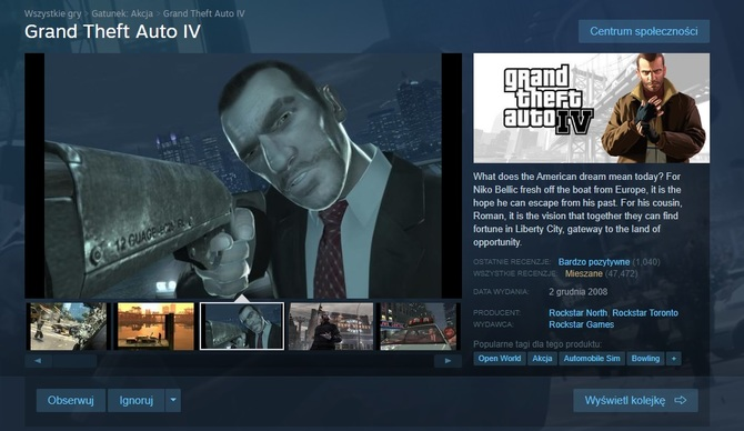 Grand Theft Auto IV: Rockstar podaje przyczynę usunięcia gry ze Steam [2]