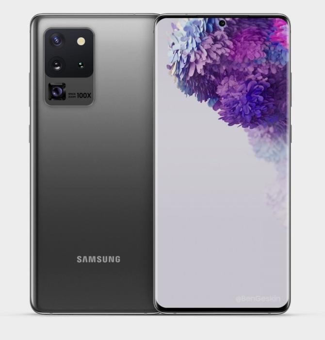 Samsung Galaxy S20 Ultra na nowych renderach. Może się podobać [1]