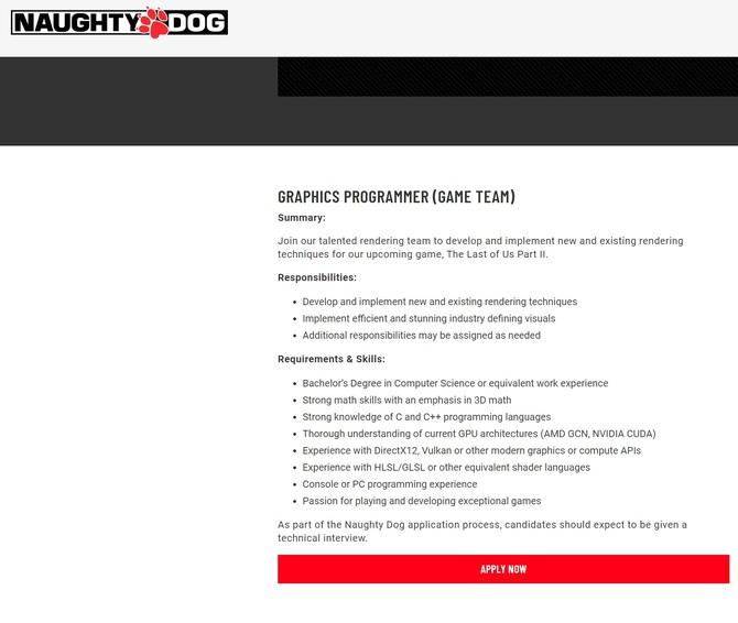 Twórcy The Last of Us szukają speców od NVIDIA CUDA i DirectX 12 [2]