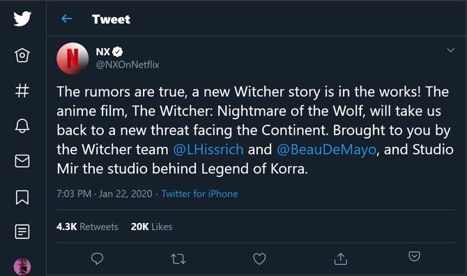 Wiedźmin jako anime? Netflix wyprodukuje pełnometrażowy film  [2]