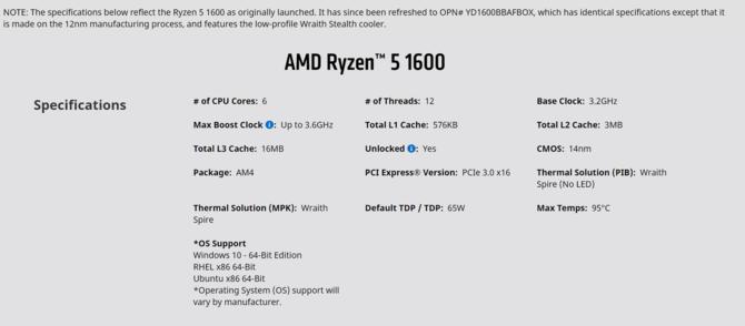 AMD potwierdza nową wersję procesora Ryzen 5 1600 w 12 nm [2]