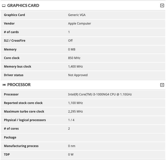Odświeżony Apple Macbook Air otrzyma układy Intel Ice Lake-Y [2]