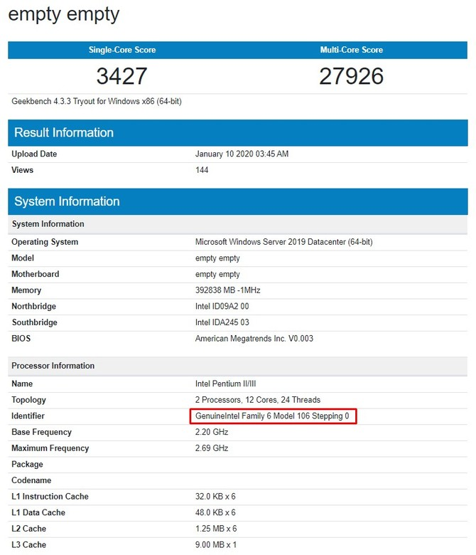 Serwerowy Xeon Gold 6226 to Intel Ice Lake z 12 rdzeniami [2]