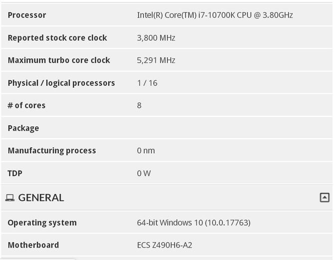 Intel Core i7-10700K ma dysponować Turbo Boost do 5,3 GHz [2]