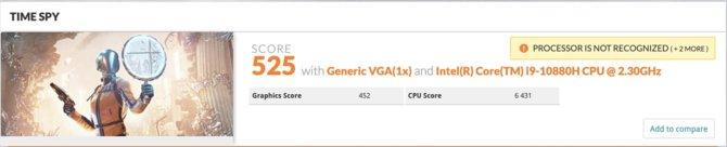 Intel Core i9-10880H pojawił się w bazie programu 3DMark Time Spy [2]