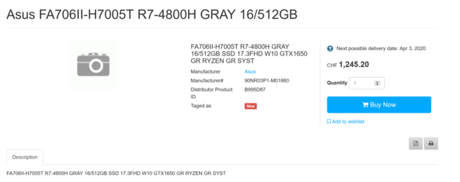 Znamy ceny laptopów ASUS TUF Gaming z układami AMD Renoir [3]