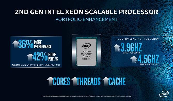 Nowe procesory Intel Xeon Scalable - więcej rdzeni w niższej cenie [1]