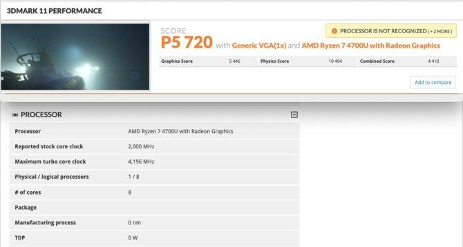 AMD Ryzen 7 4700U - Nowe iGPU szybsze od karty GeForce MX250 [2]