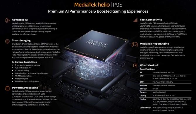 MediaTek Helio P95 - nowy układ dla smartfonów ze średniej półki [1]