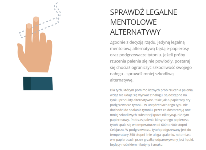 Zakaz sprzedaży papierosów mentolowych. Jakie są alternatywy? [4]