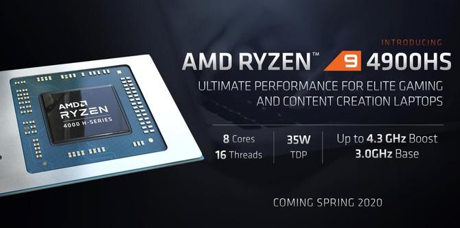 AMD Ryzen 9 4900HS - wydajność nieco niższa od Ryzen 7 3700X [2]