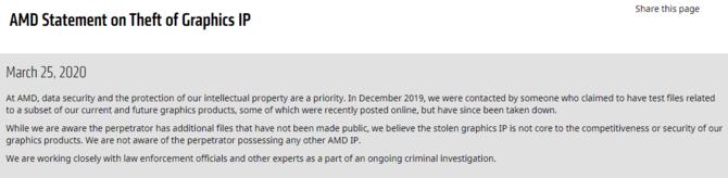 AMD: skradziono kody źródłowe kart Navi. Haker żąda okupu [1]
