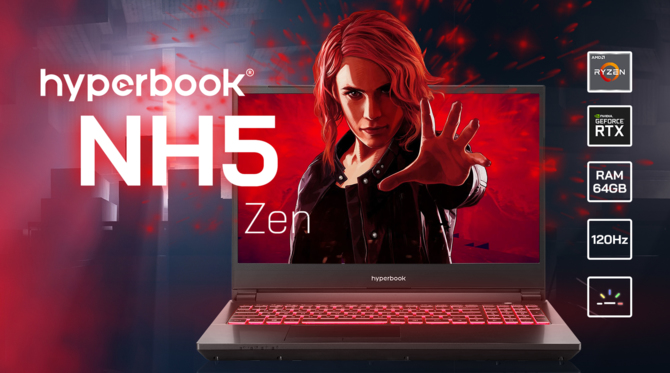 Hyperbook NH5 ZEN - laptop z desktopowymi układami Ryzen 3000 [2]