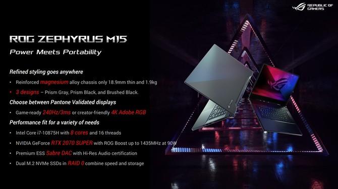 Laptopy ASUS - nowości z Intel Comet Lake-H i NVIDIA RTX SUPER [15]
