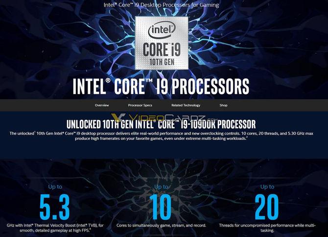 Intel Core i5-10600K, i7-10700K oraz i9-10900K - informacje o układach [2]