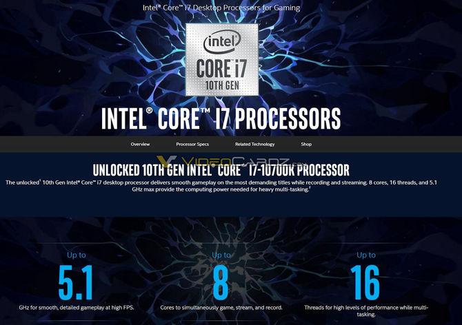 Intel Core i5-10600K, i7-10700K oraz i9-10900K - informacje o układach [3]