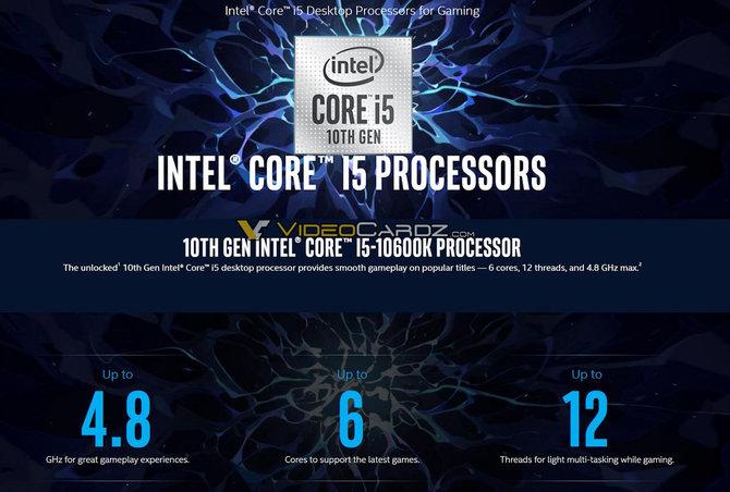 Intel Core i5-10600K, i7-10700K oraz i9-10900K - informacje o układach [4]