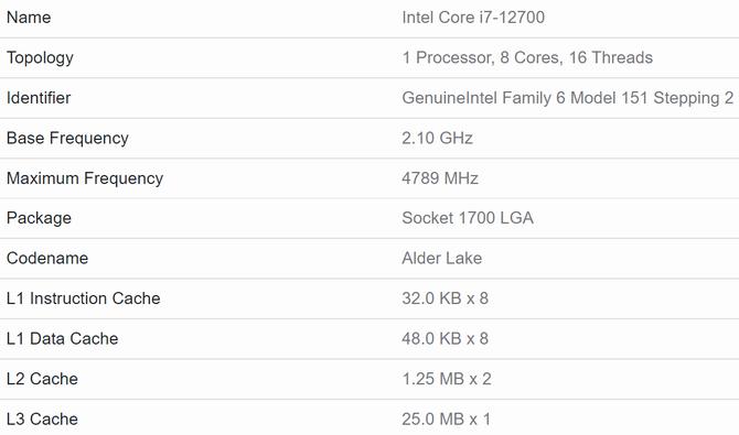 En la nueva prueba de rendimiento, el procesador Intel Core i7-12700 supera al Ryzen 7 5800X.  El fabricante también prepara procesadores Alder Lake sin iGPU [4]