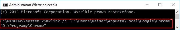 Mklink, czyli jak zainstalować Chrome na innej partycji [6]